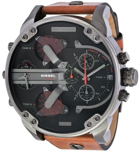 Diesel Leather Set Rubber 3 Buy Diesel Mr For Analog Leather Band