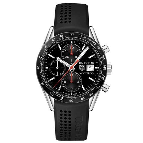 Tag Heuer F1 Calibre 16 Chrono Brown Silver White tag heuer calibre 16 steel automatic chronograph black rubber 41mm eur