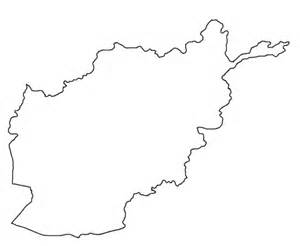 Afghanistan Country Map Outline outline maps