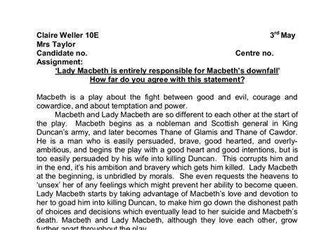 Macbeth Downfall Essay by Downfall Macbeth Essay Image Search Results