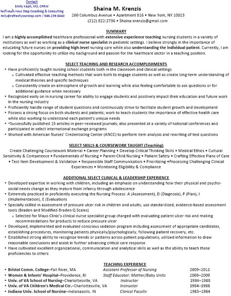Nurse Educator Resume Examples by Nurse Educator Resume Examples Resume Ideas