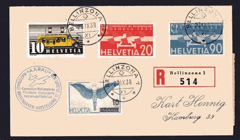 Schweiz Post Brief Ausland Schweiz R Ausland Brief Mit Ak St 183 Philatelie Heinemann