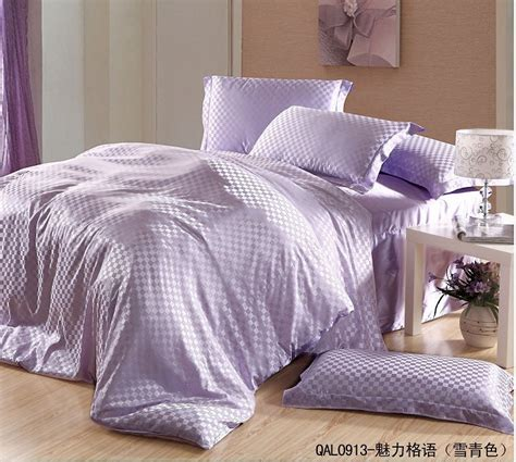 purple plaid comforter luxury light purple lilac plaid mulberry silk bedding