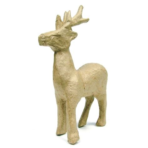Paper Mache Reindeer Craft - decopatch paper mache reindeer xl la1050 hobbyworld direct