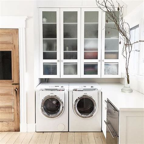 Laundry Room White Cabinets Eclectic Home Tour Silver Shed
