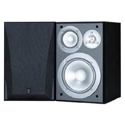 yamaha ns 6490 3 way bookshelf speakers black finish