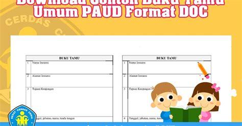 contoh format buku tamu perusahaan contoh laporan ukk downlllll