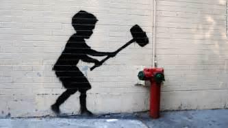 Fiberglass Spray Paint - graffiti artist banksy says he offered 60 paintings in central park cnn