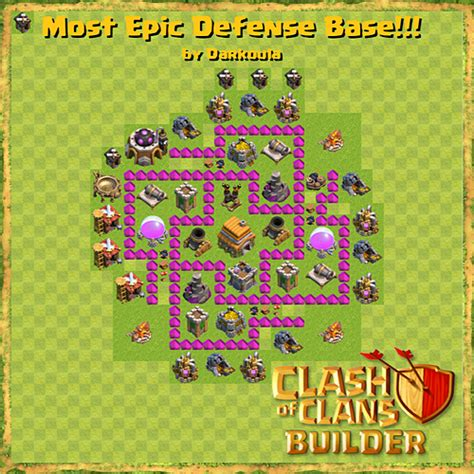 base layout town hall level 6 tipe defense coc indonesia town hall level 6 best defence base plan clash of