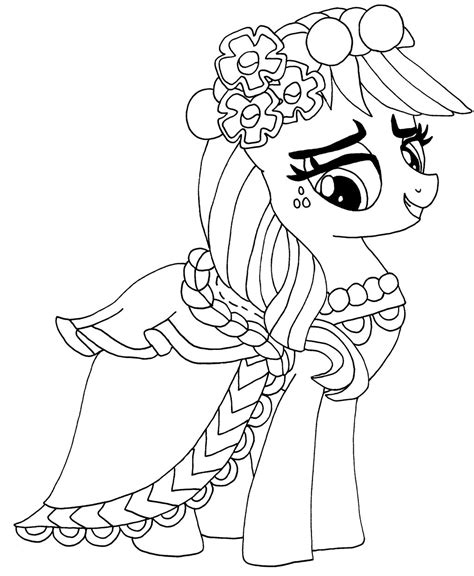 my little pony group coloring pages apple jack by elfkena on deviantart