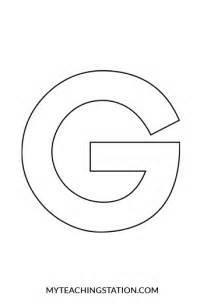 letter g template letter g craft goose myteachingstation