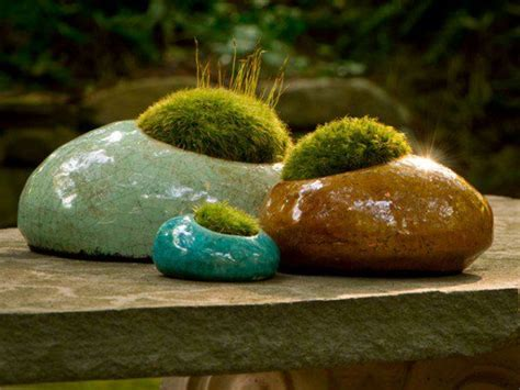 Decorative Moss For Planters moss rocks decorative moss planter how does your garden grow 3