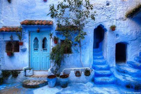 blue city in morocco moroccan decor and blue color bring cool moroccan style