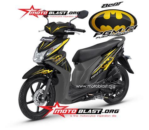 Lu Proji Untuk Beat Fi modif striping honda beat fi black batman motoblast