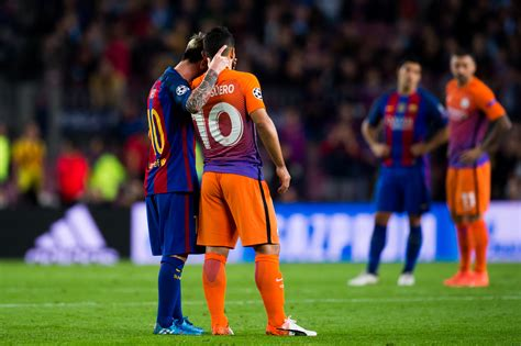 barcelona vs manchester city lionel messi involved in tunnel spat after manchester city