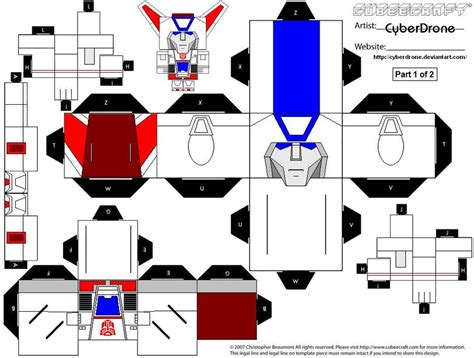 Transformer Papercraft - cubee jetfire 1of2 by cyberdrone on deviantart