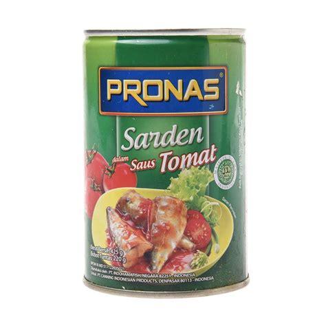 Pronas Sardines Chili Sauce 425g by Jual Pronas Sardines Tomato Sauce 425g Harga