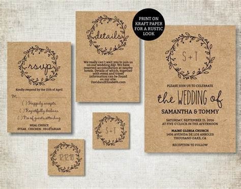 Simple Wedding Invitation Template wedding invitation template classic wreath wedding invite