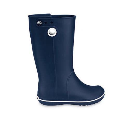 crocs boots crocs crocs crocband jaunt navy gd1 womens wellie