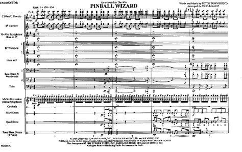 wizard music pinball wizard by baratta n j w pepper sheet music