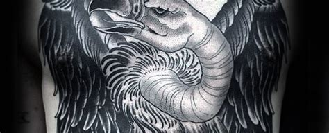 buzzard tattoo designs top 40 best turkey tattoos for bird design ideas