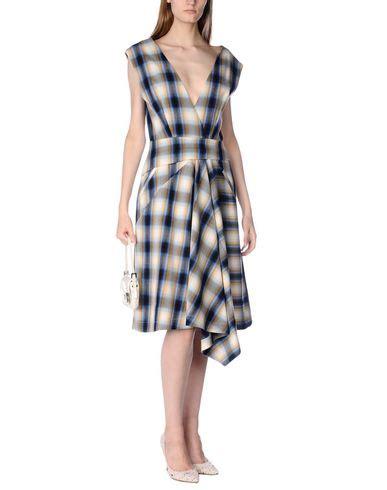 Msgm Knee Length Dress msgm knee length dress in blue modesens