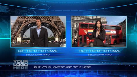 news template after effects after effects news studio template 2