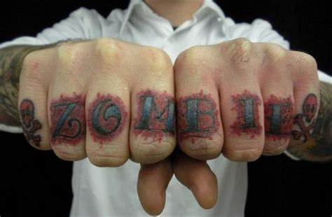 zombie tattoo finger remove the knuckles and the fingers will die hardcore