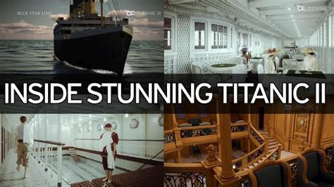 titanic boat launch look inside the titanic 2 as the replica ship prepares