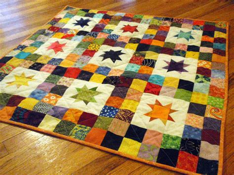 Patchwork Patterns For Baby Quilts - starry skies baby quilt favequilts