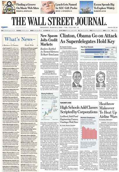 wall street journal review section the wall street journal 2007 fonts in use