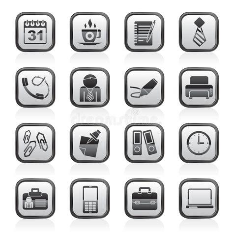 icone ufficio icone dell ufficio e di affari illustrazione vettoriale