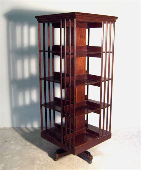 rotating bookshelves bookcase bookcase c1890 danner mahogany
