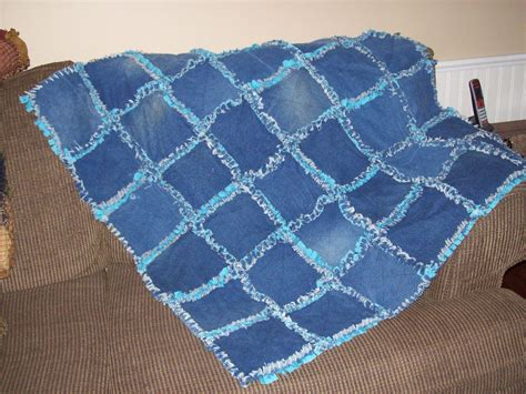 Handmade Rag Quilts - handmade upcycled rag quilt or rug made of by pinewoodcountry