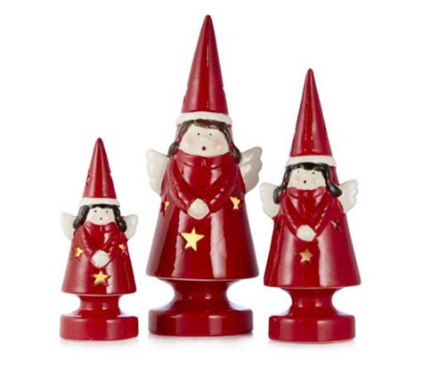 mr christmas set of 3 porcelain light up ornaments qvcuk com