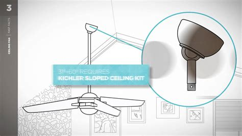 ceiling fans for sloped ceilings kichler ceiling fan fast facts sloped ceiling