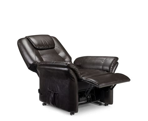 riva rise recliner faux leather chair