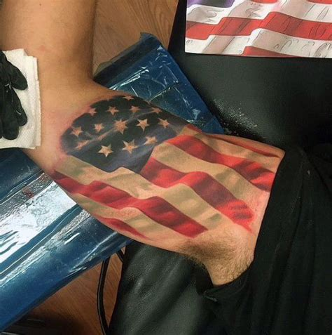 american flag bicep tattoo top 60 best american flag tattoos for usa designs