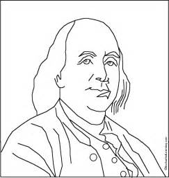 benjamin franklin coloring page az coloring pages