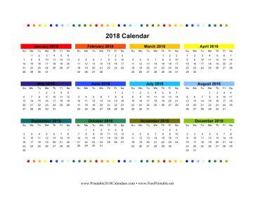 printable calendar 2018 colorful printable 2018 colorful calendar