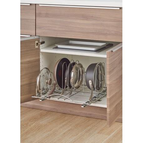 kitchen cabinet pot organizer trinity sliding pot organizer stop those pots and pans