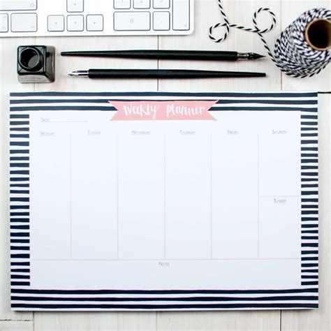 a3 desk planner pad bold breton weekly planner desk pad by betty etiquette