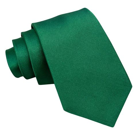 Green Emerald s plain emerald green satin tie