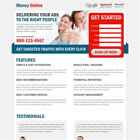 Make Money Online Squeeze Page - money online landing page design templates to earn money online page 2