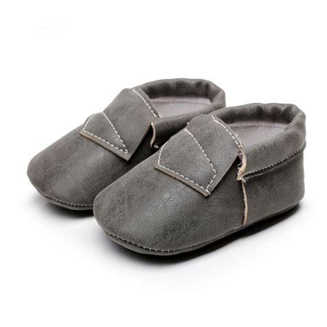 infant baby soft sole leather shoes color boy