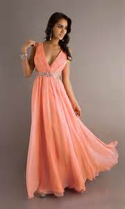monokili coral peach colored deep v neck elegant formal