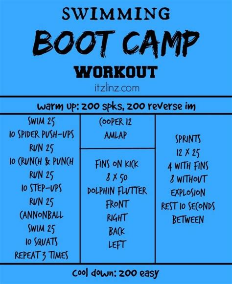 boot c workout for swimming boot c workout swim with me