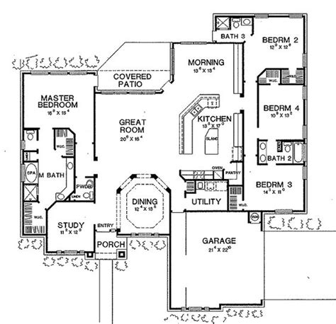 Open Split Floor Plans | i love this house layout open floor plan split plan