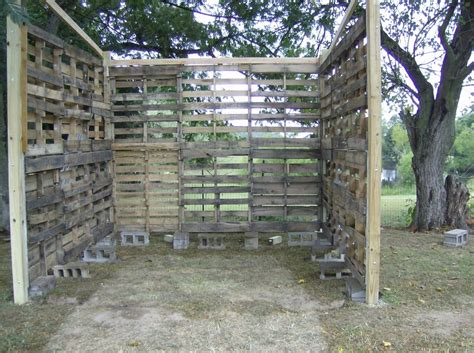 pallet shed building rural route diaries