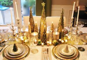 christmas table ideas decorating with silver and gold